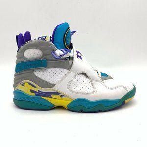 Nike Air Jordan 8 Retro Womens Sneakers White 9.5